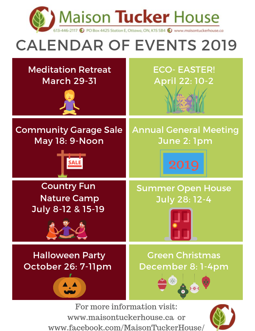 Calendar of Events 2019