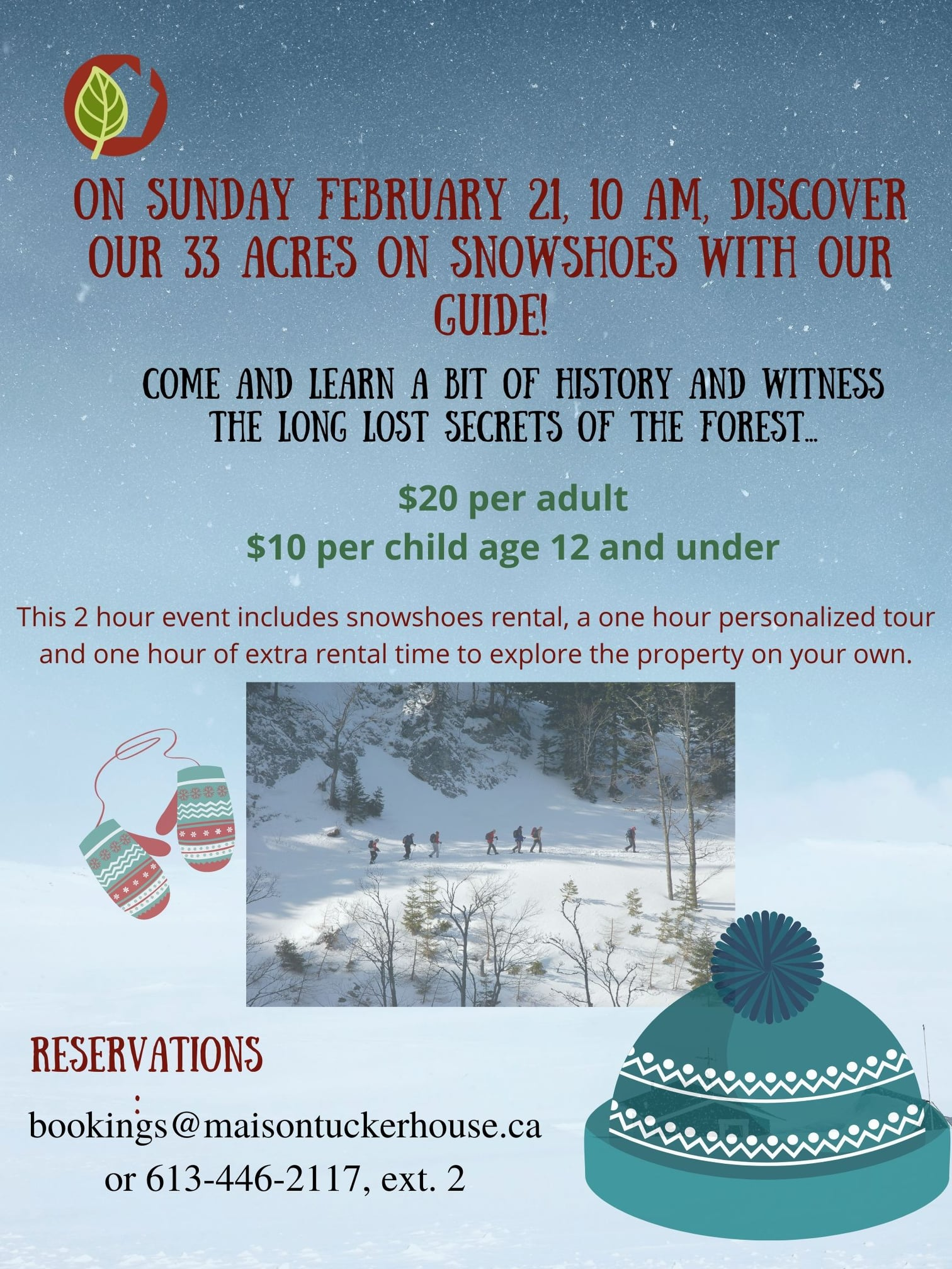 Snowshoe Tour – February 21